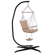 Indoor Outdoor Steel C Frame Free Standing Air Porch Hammock Swing Chair Stand