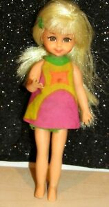 Barbie 1966 Tutti Friend Chris Doll in Original Outfit w/Blonde Hair & Barrette