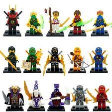 15 pcs Ninjago MINI FIGURE Cole LLOYD TITANIO Zane Jay KAI accoppiamenti LEGO B