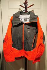 Orange Gray Men's Haglöfs Roc Rescue Winter Hardshell Jacket Coat Size L Large