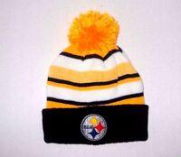 Pittsburgh Steelers Pom Beanie Winter Headwear Yellow Black  Hat New Great Look!