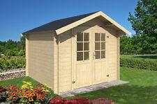 28 mm Gartenhaus 3x3 m + Dachschindeln grün Gerätehaus Holzhaus Blockhaus Lounge