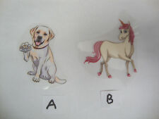 Cute small Labrador Dog OR Unicorn Iron on Transfers BRAND NEW You choose which!