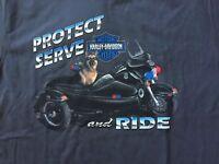 Harley Davidson Protect and Serve Police K9 gray Shirt Nwt Men's L