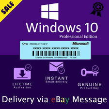 🔥MICROSOFT WINDOWS 10 PRO PROFESSIONAL32/64BIT ☑ Digital Lifetime License Key🔥