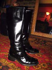 Prada Black Vintage Riding Boots Size 5.5