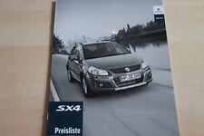 101788) Suzuki SX4 - Preise & Extras - Prospekt 09/2011