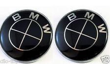 2pcs Für BMW SCHWARZ Emblem SATZ 2x82mm 2Pin Vorne Hinten Motorhaube e46 e90 e60