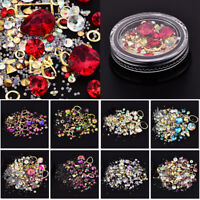 Fashion Nail Art Rhinestones Glitter Diamonds Tips Mixed 3D Tips DIY Decoration