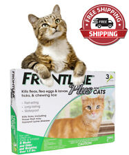 Frontline Plus 3 Month Supply For Cats Over 8-Weeks Fast Free Shipping( 3 Dose)