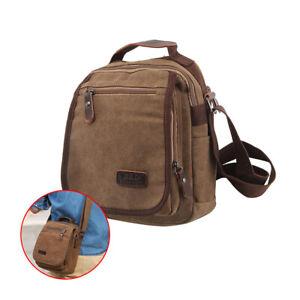 Men's Canvas Messenger Bags Waterproof Cross Body Shoulder Utility Travel Work