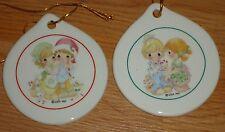 Precious Moments Porcelain Ornaments Box set of 2
