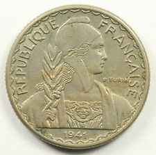 FRENCH INDO CHINA 1941-S 10 CENTS KM-21.1a Pretty Coin