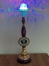 More details for timothy taylor traditional beer pump ceramic pull handle lamp w/disco light bulb