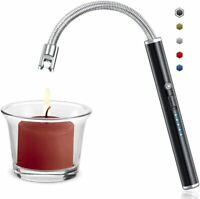 BBQ Candle Lighter Electric Arc USB Rechargeable Long Flexible Neck Flameless @