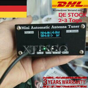 CGJ-100 1.8-30MHz Mini Automatic Antenna Tuner OLED For 5-100W Shortwave Radio