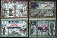 """BOCHUM 1920 """"Injured WWI Veterans"""" complete matching serial set! German Notgeld"""