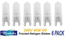 6 x 240V 40W G9 Halogen Light Lamp Globes Bulbs Dimmable Frosted