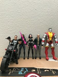 Marvel Legends Lot Punisher W/ Bike, Colossus, Psylocke, Stan Lee and More