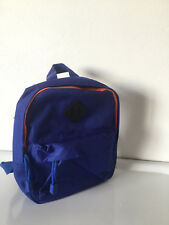Petit Sac à dos 23 x 20 x 5,5 cm  - Bleu Marine fermeture  orange - TEX -Neuf