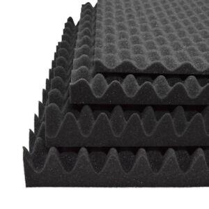 Noppenschaum anthrazit 2-10cm Akustikschaum Dämmung Schaumstoff Schallschutz