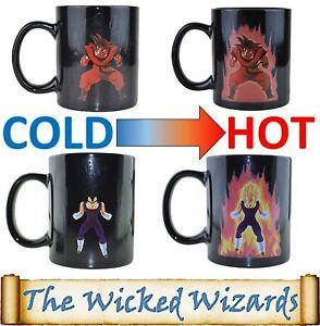 Dragonball-Z Super Saiyan Power Up Heat Changing Coffee Mug - Goku and Vegeta