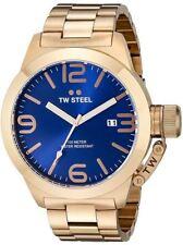 Reloj Tw Steel para Hombre CB182 dorado esfera azul 50mm