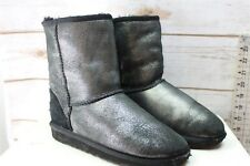 Ugg Silver Black 4 Girl's Winter Boots