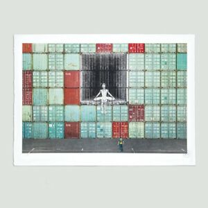 JR, In the container wall, 2020. Signed Ed. 180. Social Animals. JR Art.