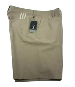 Adidas men's 3 Stripe Climalite beige Shorts size 54 retail $65