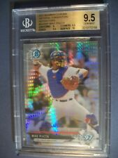 MIKE PIAZZA 2017 Bowman Chrome National Convention Refractor BGS GEM MINT 9.5