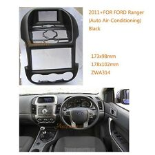 Car Radio Surround Fascia for FORD Ranger 2011+ (Auto Air-Conditioning) Black