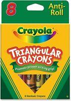 Crayola Crayons Triangular Anti-roll Promotes proper writing grip 8 Count Multi