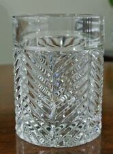 Ralph Lauren Crystal Herringbone Old Fashioned Glass