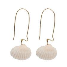 Women's Bohemian Natural Sea Shell Conch Ear Stud Earrings Beach Jewelry Gift CP