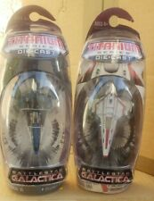 NEW Battlestar Galactica Colonial Viper Mark II & VII Titanium Series Die-Cast