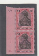 Marienwerder 80pfg lilac proof pair with and without surcharge,  Michel 19P2