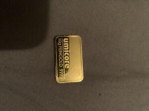UMICORE 10g 999.9 Gold Bar Bullion Investment Brand New