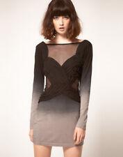 NEW STYLESTALKER BLACK GRADIENT BODYCON MINI MESH DRESS SIZE 8 | FITS S - M