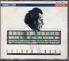 Gustav Mahler, Eliahu Inbal -Symphony No. 2- 2xCD Box-Set Denon Record near mint