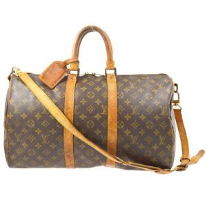 LOUIS VUITTON KEEPALL 45 BANDOULIERE TRAVEL HAND BAG MONOGRAM M41418 71552