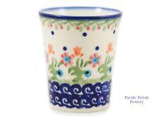 Polish Pottery Stoneware Tumbler, Small Cup Boleslawiec, Poland (237-D19)