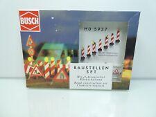 Busch 5937 Spur HO Baustellen-Set mit Warnbaken #NEU in OVP#