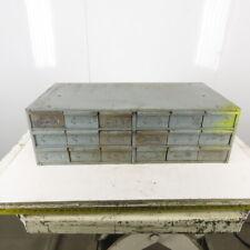"Hallowell 34 x 17 x 10"" T 18 Drawer Small Parts Organizer Storage Steel Cabinet"