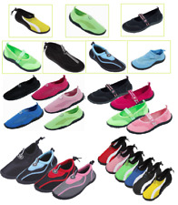 Women's Athletic Mesh Pool Beach Water Shoes Aqua Socks Multiple Styles