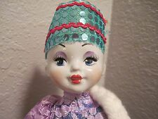 "GORGEOUS 18"" RUSSIAN PORCELAIN DOLL IN TRADITIONAL FOLK COSTUME"