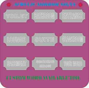 Modern Decorative Shatterproof Acrylic Mirror Signs Available For Toilet,Lounge