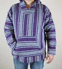 XL Hoodie Baja Hippie Surfer Mexican Poncho Sweater Size Assorted Colors