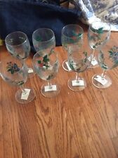 Group Of 8 Holly Ivy Portmeirion Wine Glass Wine Glasses