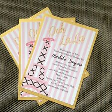 Pink and Gold Paris Theme Bridal Shower Invitation